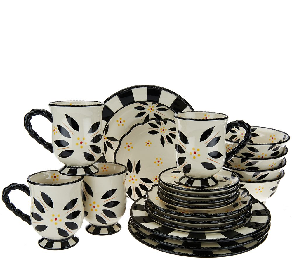 Temp-tations 20-piece Old World Service for 4 Dinnerware Set ...