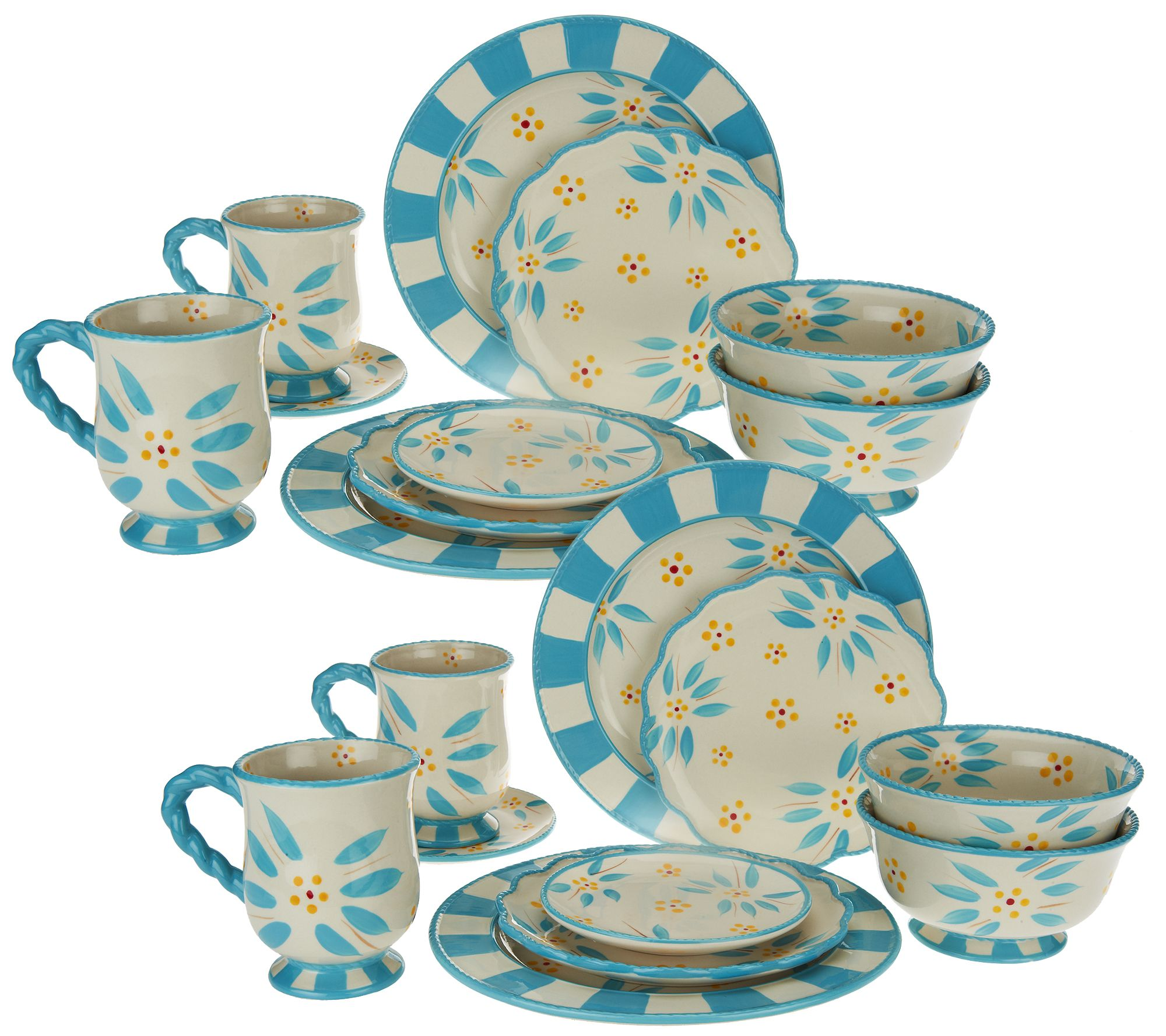 Temp Tations 20 Piece Old World Service For 4 Dinnerware Set   Page 1 U2014  QVC.com