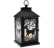Dennis Basso 14 Metal Holiday Lantern with Flameless Candle w/Timer - H205920