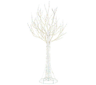 As Is Santa's Best 7' All-Season Prelit White Wire Tree