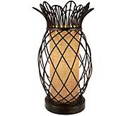 Antiqued Bronze Metal Pineapple Plug-In Lamp by Valerie - H208920