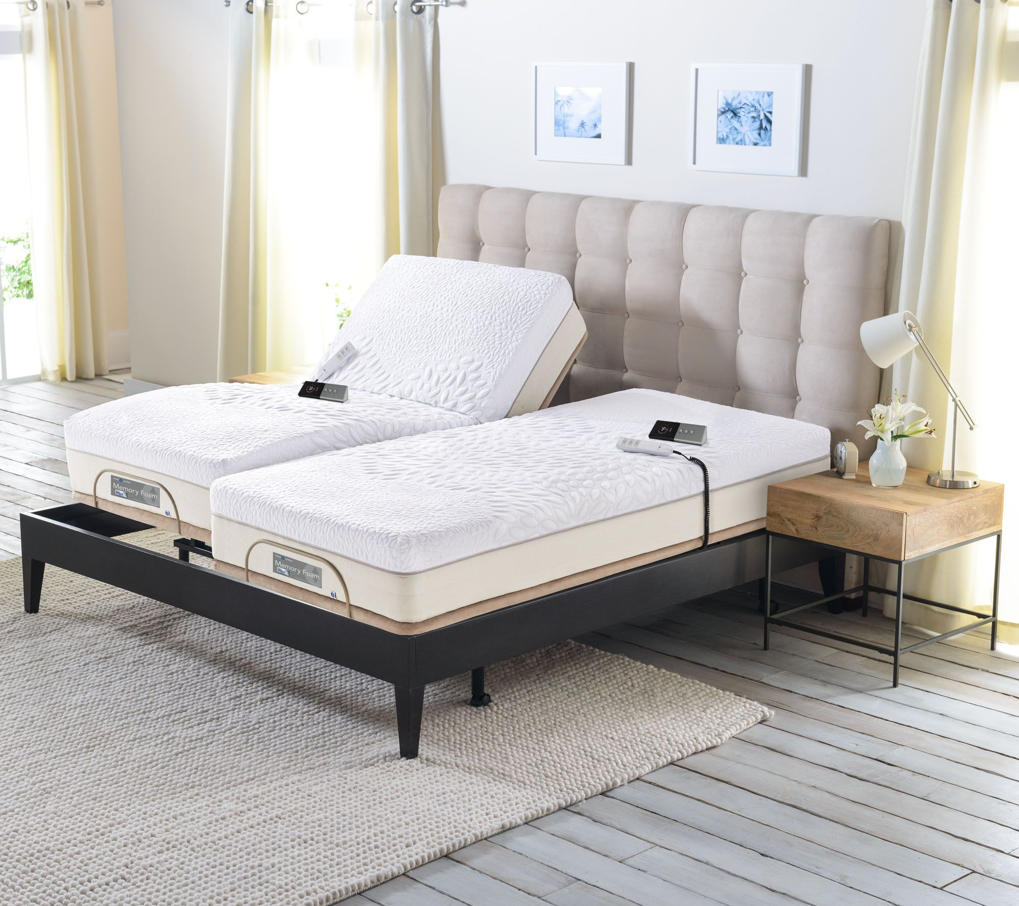 sleep number memory foam split king mattress with ForSleep By Number Mattress