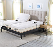 Sleep Number Memory Foam Split King Mattress with Adjustable Base - H209620