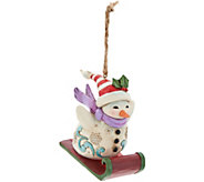 Jim Shore Heartwood Creek Sledding Snowman Ornament - H212520