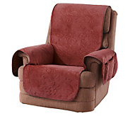 Sure Fit Soft Velvet Floral Pinsonic Patterned Recliner Cover - H213320