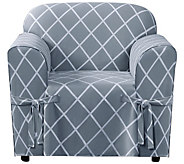 Sure Fit Lattice Chair Slipcover - H288820