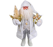 15-1/2 White and Gold Santa by Santas Workshop - H289020