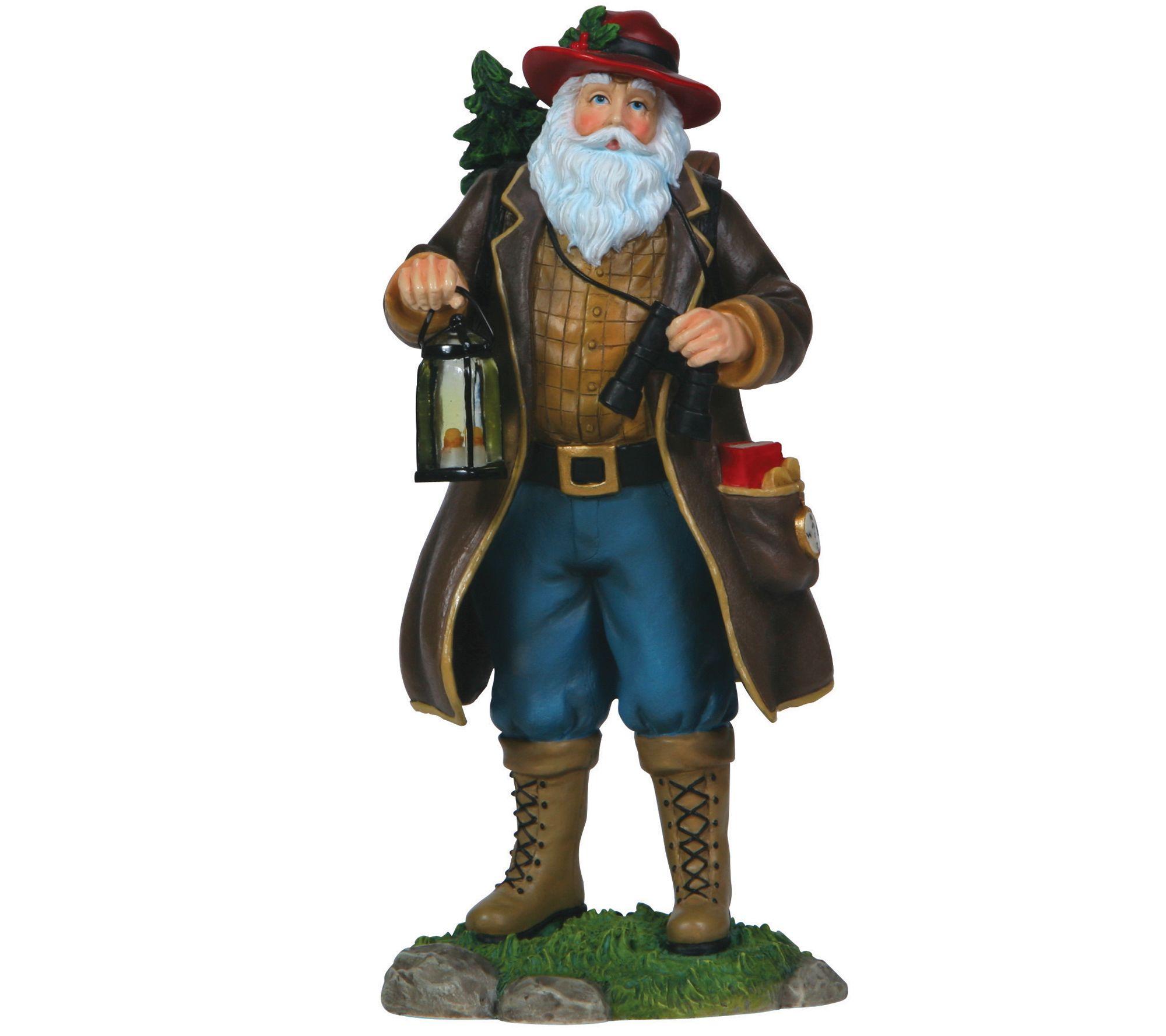 Camping claus santa figurine by pipka — qvc