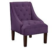 Skyline Furniture Tufted Swoop Velvet Arm Chair - H365920