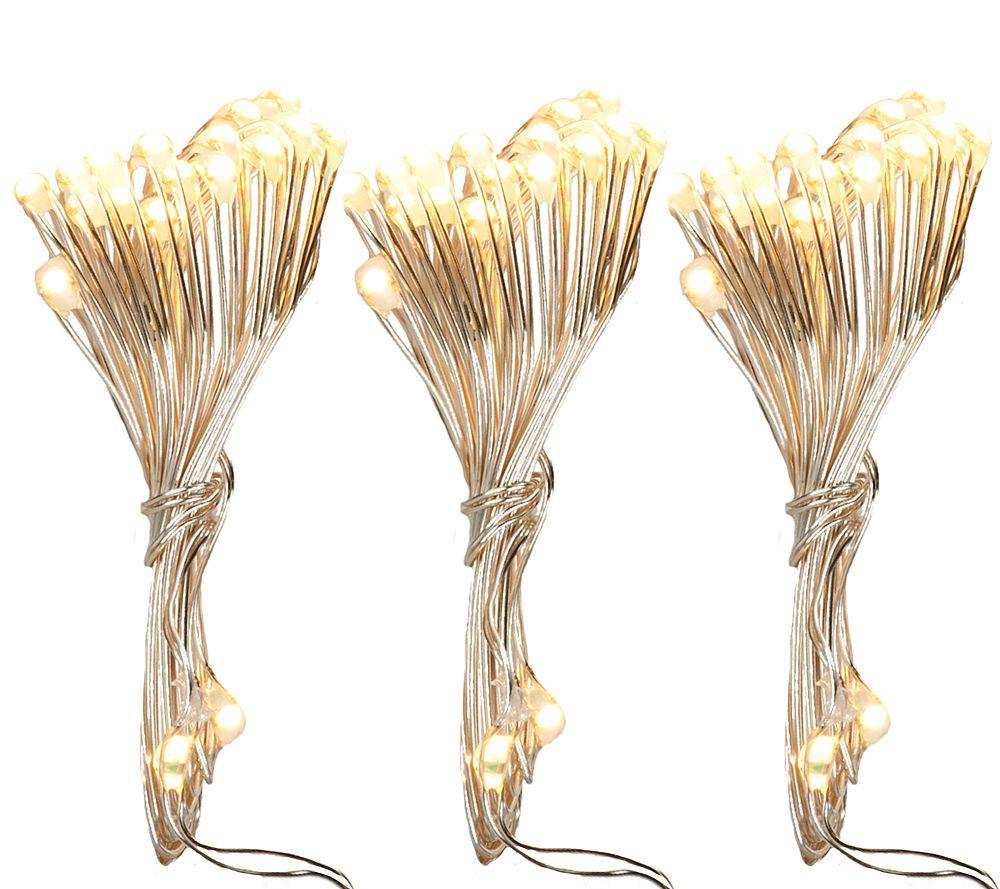 String Lights Qvc : Set of 3 20-Light Micro Light Strings by Valerie - Page 1 QVC.com