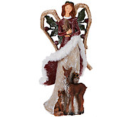 Frosted Woodland Angel with Animals by Valerie - H203321