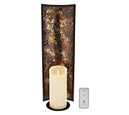 Luminara 18 Mosaic Wall Sconce w/6 Pillar & Remote - H214021