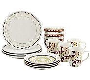 Rachael Ray Circles and Dots 16-piece StonewareDinnerware Set - H282621