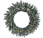 36 Frosted Crystal Balsam Wreath by Valerie - H286921