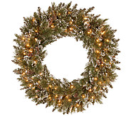 Kringle Express 30 Glittering Pine Memory-Shap e Wreath - H287121