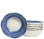 Tabletops Gallery Set of 6 7-1/2 Round Melamine Dinner Bowls - H289321