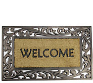 Northlight Welcome Rubber and Coir Scroll Door Mat - H293621
