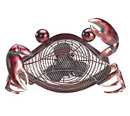 Deco Breeze Hand Sculpted Metal Decorative CrabFan - H350821
