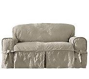 Sure Fit Matelasse Damask Love Seat Slipcover - H359821