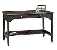 Sauder Edge Water Collection Writing Desk - Estate Black - H182622