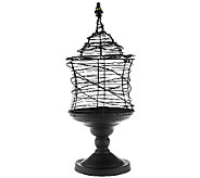 19.5 Metal Wire Apothecary Jar w/Finial Accent by Valerie - H202322