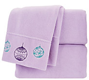 Malden Mills CK Holiday Embroidered Polarfleece Sheet Set - H205122