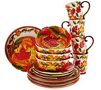 Temp-tations 16- Piece Dinnerware Set Choice of Pumpkin/Harvest - H208522