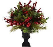 20 Berry and Pine Arrangement in Decorative Urn by Valerie - H212422