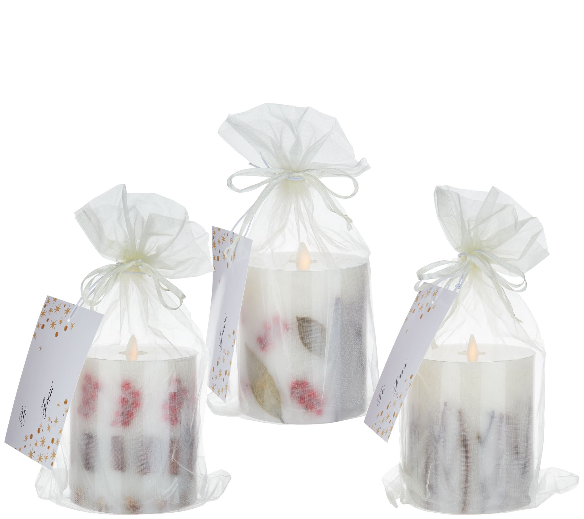 bethlehem lighting. Bethlehem Lights S/3 Embedded Holiday Scented Touch Candles - H213522 Lighting C