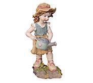 Design Toscano Farmer Fanny Hand Painted Classic Garden Statu - H284422