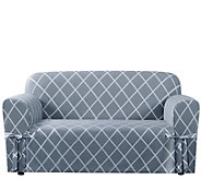 Sure Fit Lattice Love Seat Slipcover - H288822