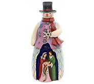 Jim Shore Heartwood Creek Snowman with Holy Family Scene - H290222