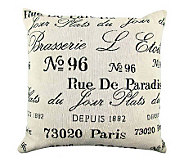 Vintage House Brasserie 18 x 18 Tapestry Pillow - H356722