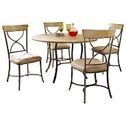 Hillsdale Charleston 5pc Round Dining Set w/Xbacked Chairs - H358722