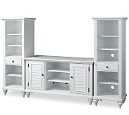 Home Styles Bermuda Brushed White Entertainment Center - H361722