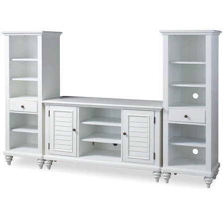 Home Styles Bermuda Brushed White Entertainment Center