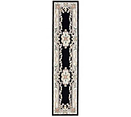 Rugs America New Aubusson 23 x 10 Wool Runner - H140023