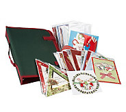 30 Piece Embellished Holiday Card Set with Organizer Bag - H167323