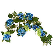 Hydrangea and Berry Extended Length Garland by Valerie - H210723
