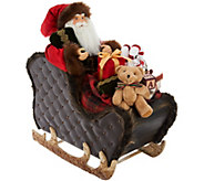 18 Santa in Sleigh with Faux Leather Accents by Valerie - H211523