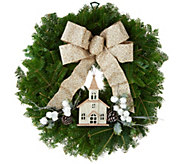 Del. Week 12/4 Fresh Balsam Holiday Wreath by Valerie - H213023