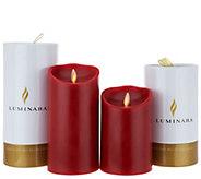 Luminara 5 & 7 Pillars with Gift Tubes and Remote - H214023