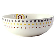 Rachael Ray Circles and Dots Stoneware 10 Round Serving Bowl - H282623