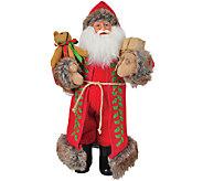 15 Red Burlap Claus by Santas Workshop - H286423