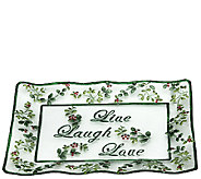 Pfaltzgraff Winterberry Live, Laugh, Love GlassPlatter - H286923