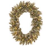 Kringle Express Glittering Pine Memory-Shape Oval Wreath - H287123