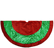 48 Red Velvet and Green Sequin Tree Skirt by Northlight - H287723