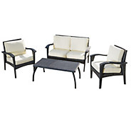Denise Austin Home 4-PC Outdoor Wicker SeatingSet & Cushions - H289423