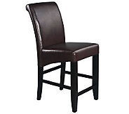 24 Parsons Bar Stool in Espresso Faux Leatherby Office Star - H349723