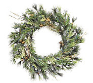 30 Mixed Country Pine Wreath by Vickerman - H142124